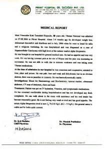 Medico Report Writing by Venerable Kirti Tsenshab Rinpoche S Health