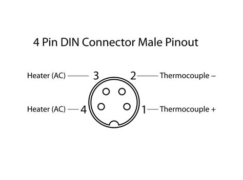 4 pin din connector pinout wiring diagrams wiring