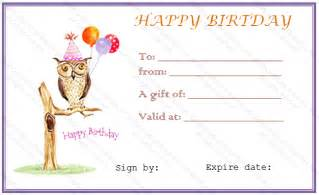 happy birthday certificate templates free happy birthday free gift certificate template