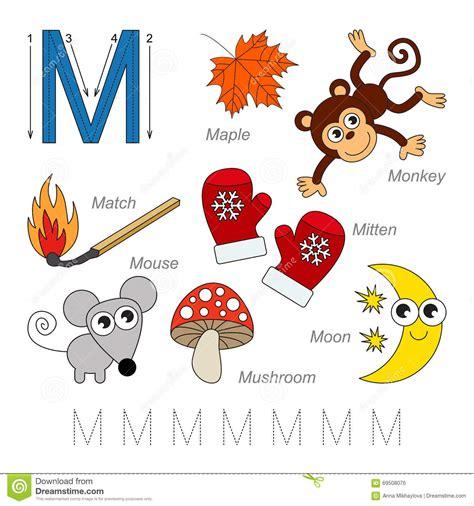 imagenes en ingles que empiecen con m im 225 genes para la letra m ilustraci 243 n del vector imagen de
