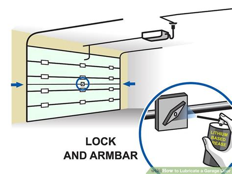 How To Lubricate Garage Door How To Lubricate A Garage Door 10 Steps With Pictures Wikihow