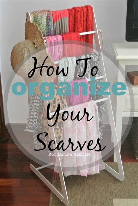 how to organize your scarves a bowl of lemons