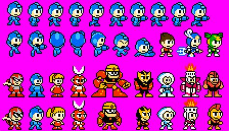 megaman: powered down sprites by cyberguy64 on deviantart