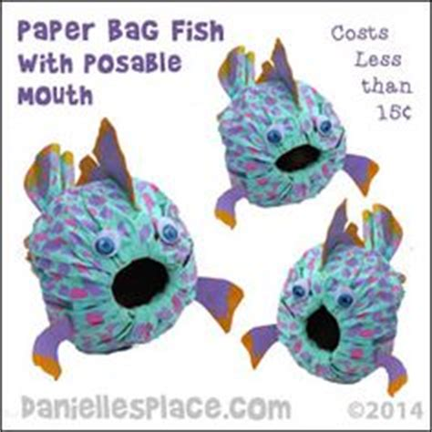 Paper Bag Fish Craft - 1000 ideas about fish bags on tackle bags