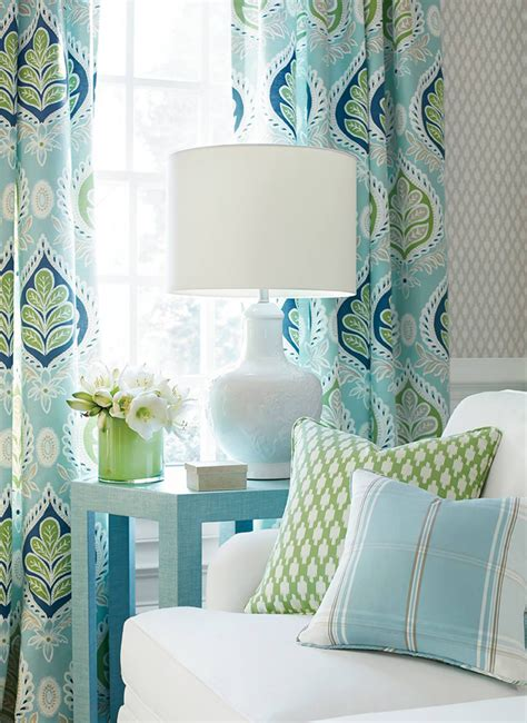 Turquoise And Green Curtains with 2017 Pantone Color Of The Year Greenery House Of Turquoise