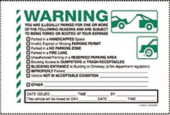 Choose No Parking Stickers And Parking Violation Labels From A Wide Variety At Linton Parking Warning Notice Template