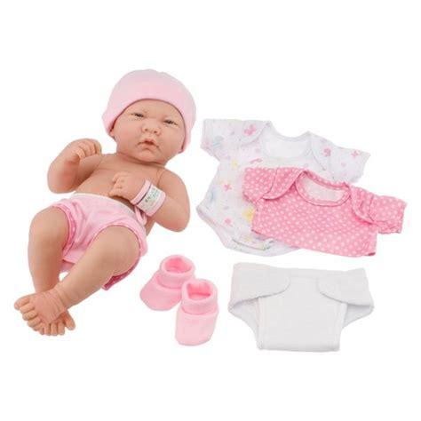 Baby Pink Newborn Babydoll Set jc toys la newborn 14 quot original realistic baby doll