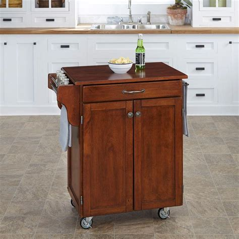 Cherry Kitchen Cart by Home Styles Cuisine Cart Cherry Kitchen Cart With Towel