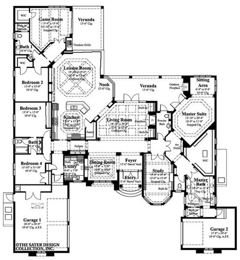 awesome one story house plans pinterest