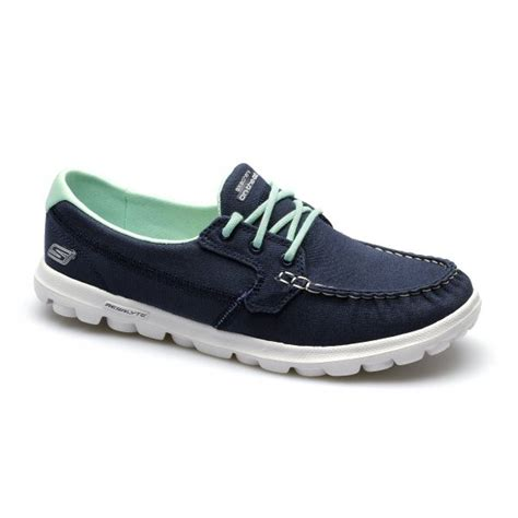 skechers boat shoes skechers on the go unite womens ladies moccasin canvas
