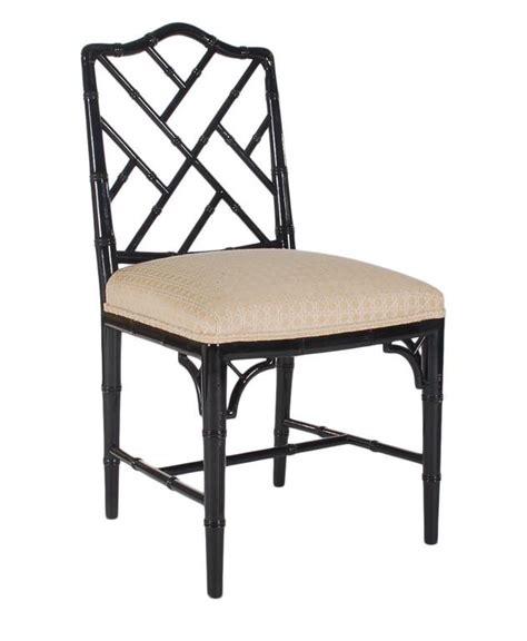 chinese chippendale style arm chair for sale at 1stdibs set of four black lacquered faux bamboo chinese