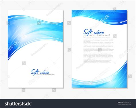 Abstract Modern Blue Color Backgrounds With Lighting Effect Back And Front Flyer Cover Design Book Front Cover Design Template