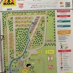 koa cgrounds usa map newberry koa 10 billeder cingpladser 13724 state