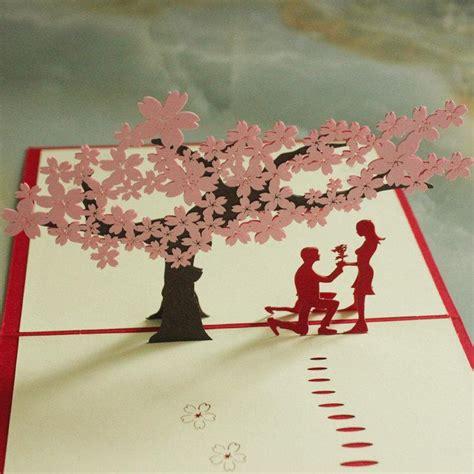 Diy Wedding Invitation Letter Pop Up Wedding Card You Valentines Day Gift Romantics Diy Card