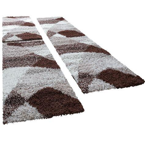 bettumrandung teppich shaggy l 228 ufer bettumrandung hochflor teppich vigo in braun
