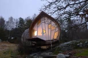 Unique wooden small house in swedish home design and interior