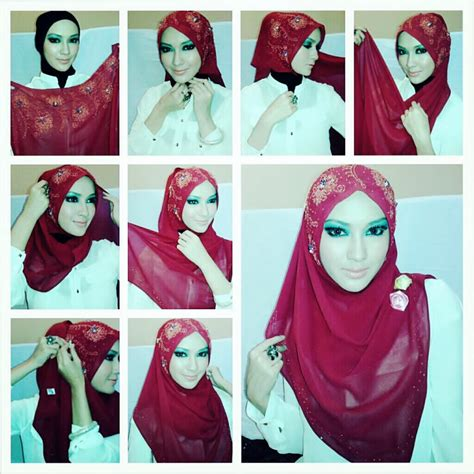 tutorial hijab pashmina estrella style latest hijab style designtrends tutorial for girls 2015