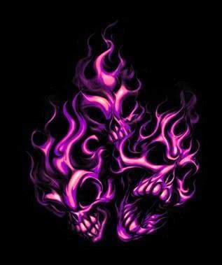 purple flaming skulls graphics, pictures, & images for