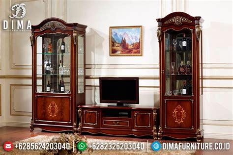 Bufet Tv Bufet Jati Pajangan Mebel Jepara bufet tv jati jepara mewah set lemari hias avina st 0419