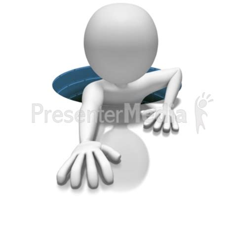 Stick Figure In Hole 3d Figures Great Clipart For Presenter Media Images