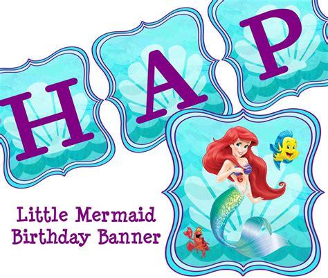 free printable ariel birthday decorations little mermaid free party printables buscar con google