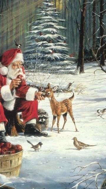 vintage christmas wallpapers desktop background