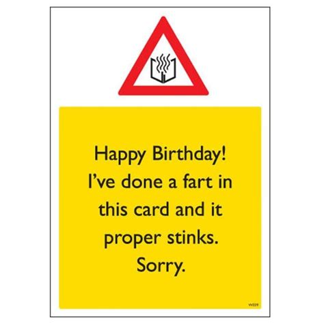 Offensive Birthday Cards Rude Birthday Card Proper Stinks Find Me A Gift