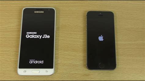 samsung galaxy j3 2016 vs iphone 5s speed test