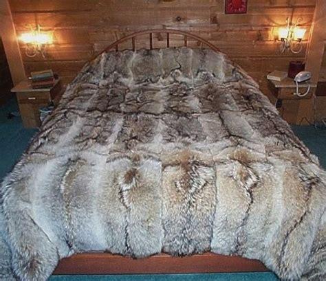 fur bed set glacier wear coyote fur comforter for sale