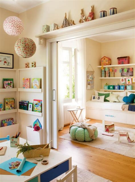 a cozy and perfectly organized room design for two kids