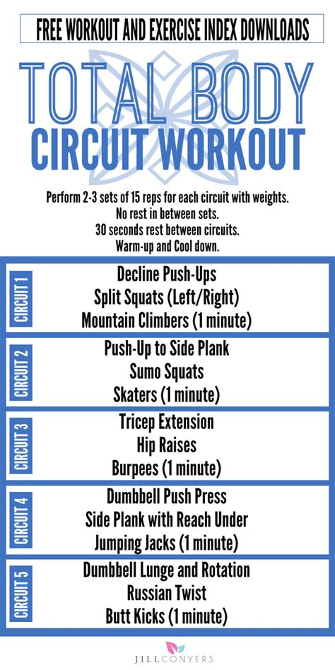 calorie burning toning total circuit workout