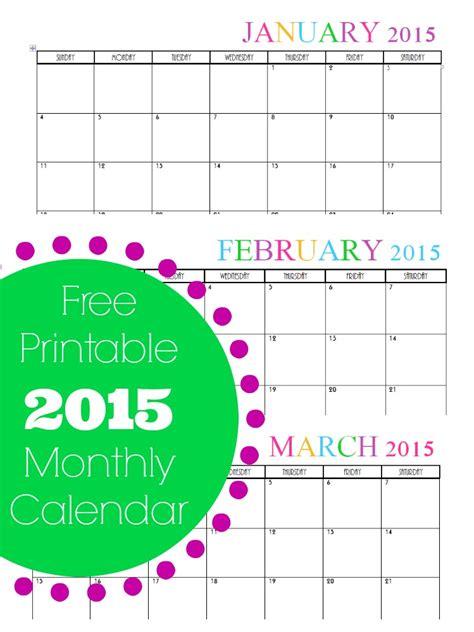 monthly 2015 calendar template printable 2015 calendar all months