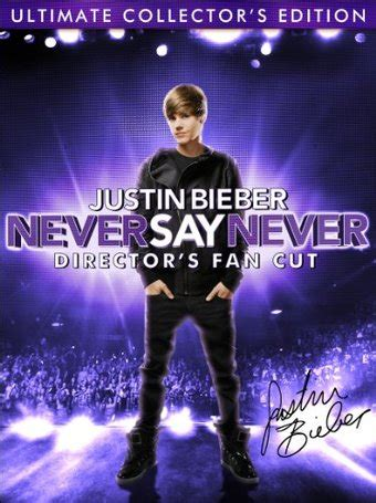 Justin Bieber Book Never Say Never justin bieber never say never director s fan cut 2 dvd