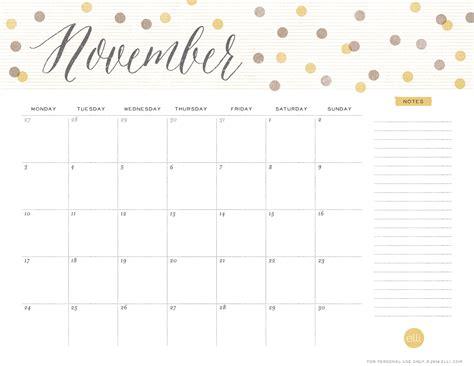 printable calendar 2017 november cute 2016 printable calen calendar template 2016