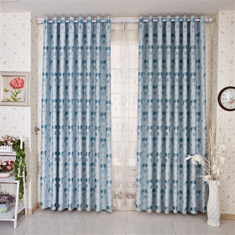 pale blue curtains bedroom cute cartoon blackout kids bedroom light blue curtains