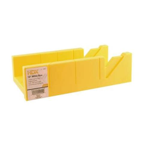 Plastic Home Depot by Hdx 12 In Plastic Miter Box 121pmb12 The Home Depot