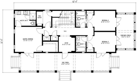2 story rectangular house plans beach style house plan 3 beds 4 baths 2201 sq ft plan 443 4