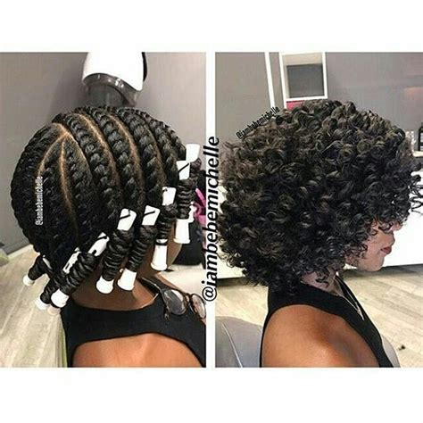 twist and rods on black people 12 bomb perm rod set hairstyle pictorials and photos
