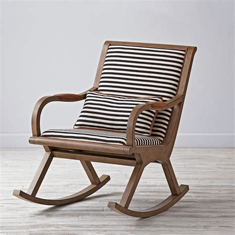 Cb2 Outdoor Furniture by Bakersfield Black And White Rocking Chair The Land Of Nod