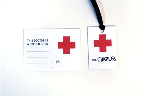 Free Printable Nurse Name Tags | doctor party free printable doctor badges on