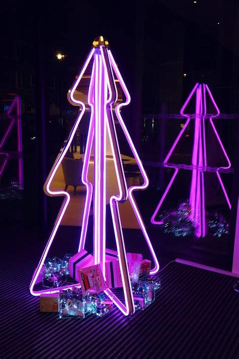 neon xmas tree i designed a neon tree for est 201 e lauder