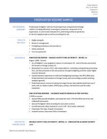 Firefighter Resume Examples Firefighter Resume Samples Templates Amp Tips