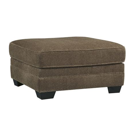 oversized square ottoman ashley justyna oversized square ottoman in teak 8910208