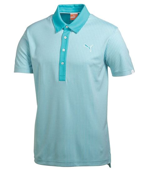 pattern polo shirt puma golf mens jaquard pattern golf polo shirt golfonline