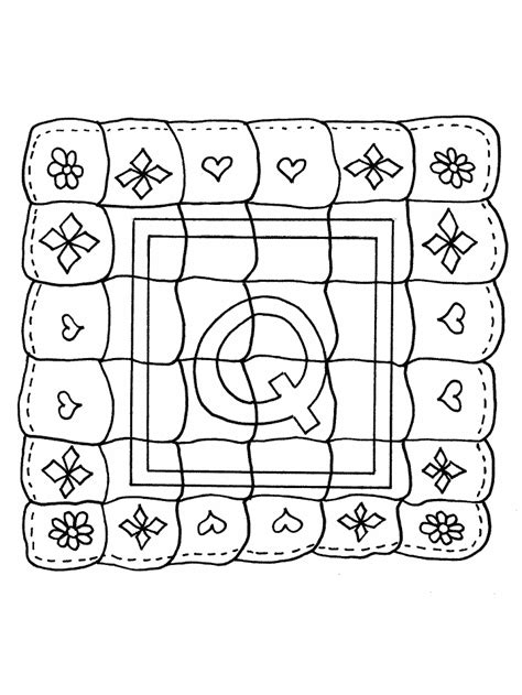Quilt Coloring Pages To And Print For Free