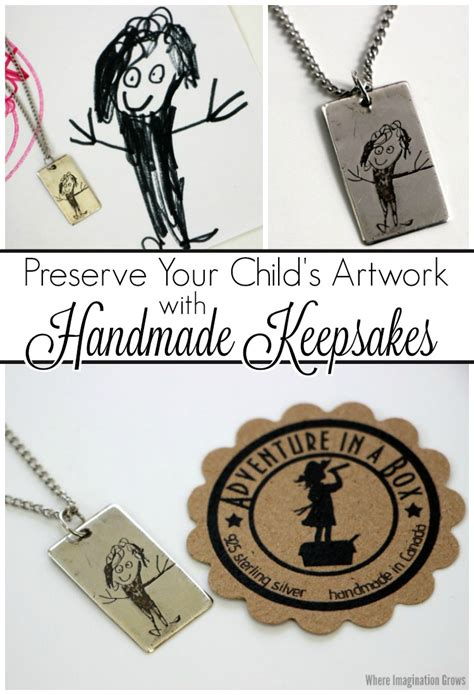 Handmade Keepsakes - preserve your child s artwork with handmade keepsakes