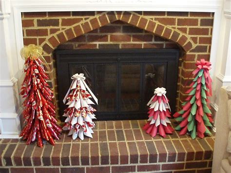 christmas tree tissue paper cone tree craft paper cone trees