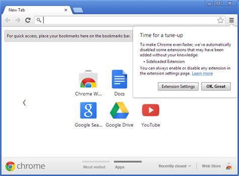 The Place Chrome Extension Chrome 25 B 234 Ta La Fin De L Installation Silencieuse D Une Extension