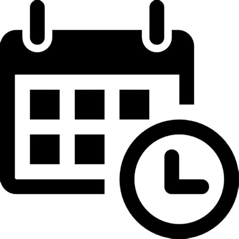 Calendar With Clock Calendar With A Clock Time Tools Icons Free
