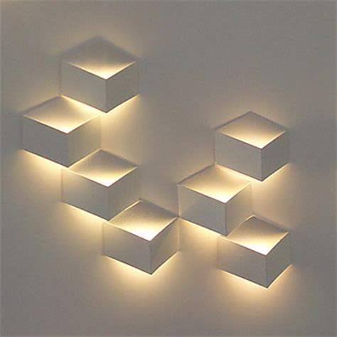 artistic lighting 1w modern led wall light artistic cubic metal shade 1 pcs